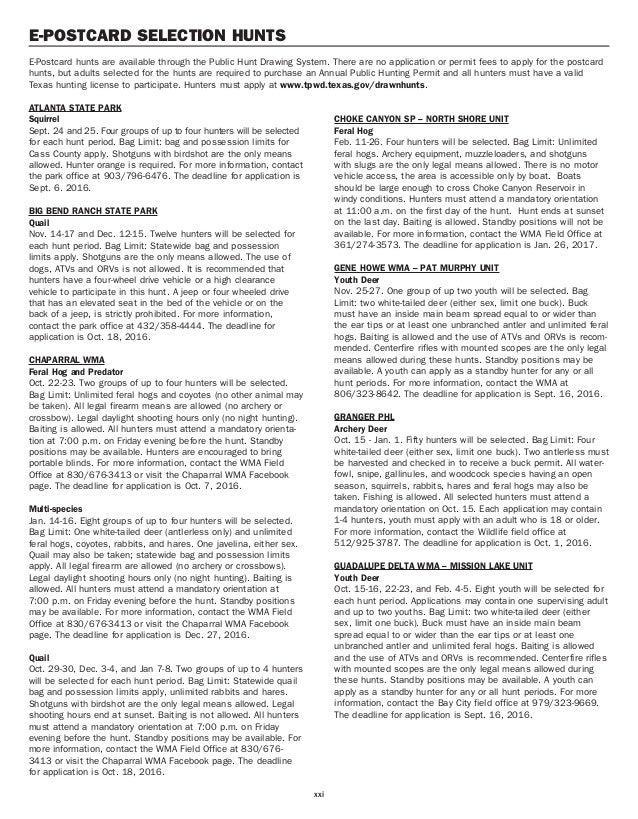 TX Public Hunting Lands Booklet 16-17