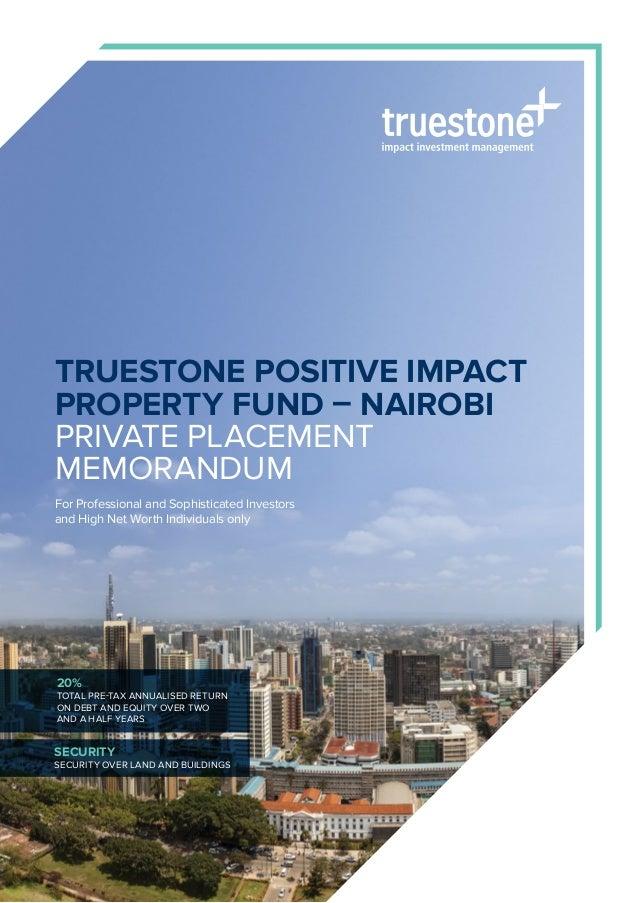 Truestone Positive Impact Property Fund - Nairobi PDF