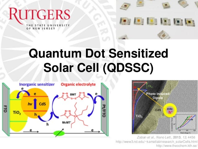 Solar Cells Sensitized With Molecular Dipole Modified