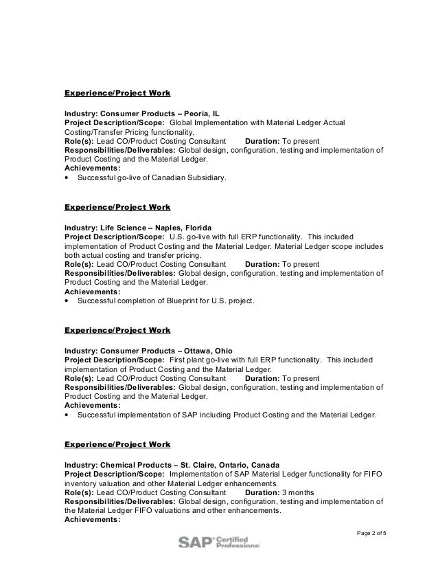 Awesome Fifo Accounting Resume Inspiration - Resume Ideas - bayaar.info