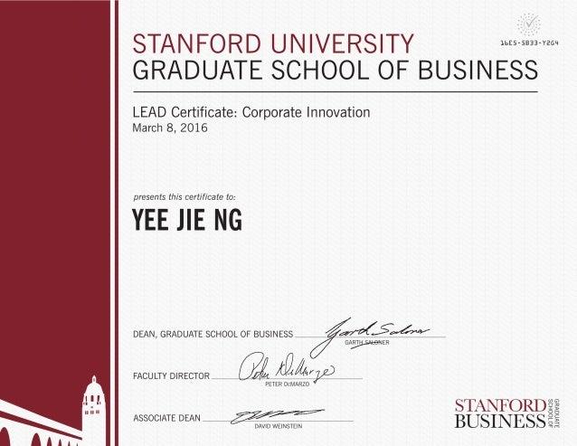 LEAD Certificate - Corporate Innovation