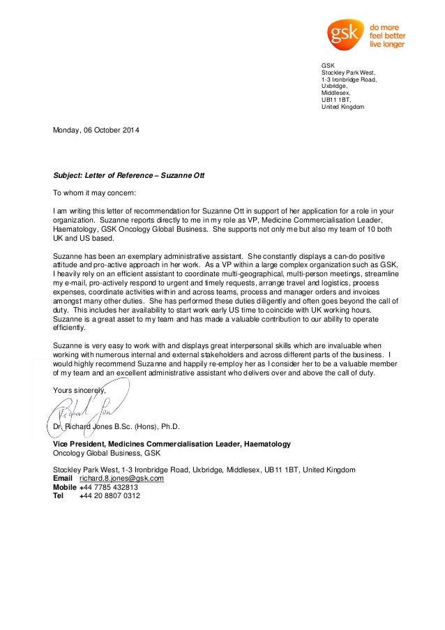 Richard Jones Rec Letter