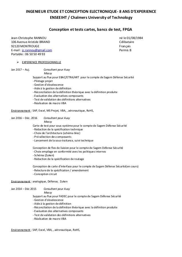 INGENIEUR ETUDE ET CONCEPTION ELECTRONIQUE- 8 ANS D'EXPERIENCE ENSEEIHT / Chalmers University of Technology Conception et ...