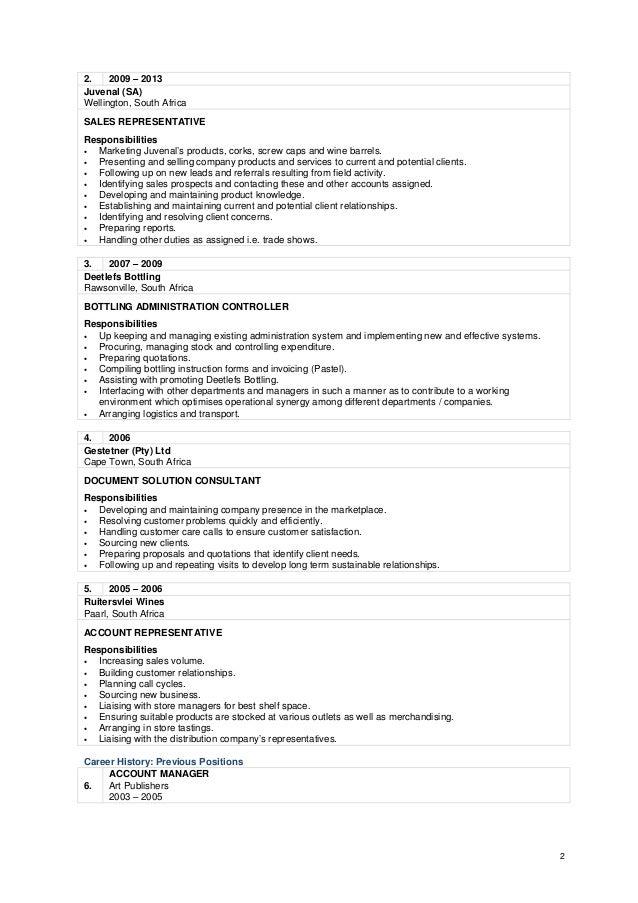 Avon Representative Job Description Resume