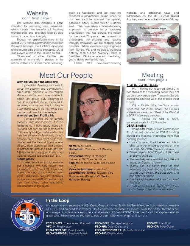 In The Loop - Smithfield Flotilla 59 Newsletter - March 2016 Slide 2