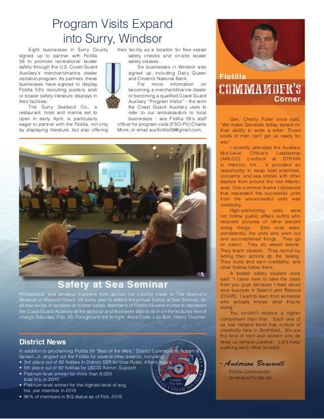In The Loop - Smithfield Flotilla 59 Newsletter - March 2016 Slide 3