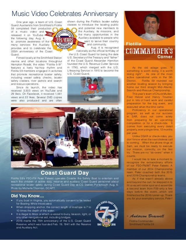 In the Loop - Smithfield Flotilla 59 Newsletter - Aug. 2016 Slide 3