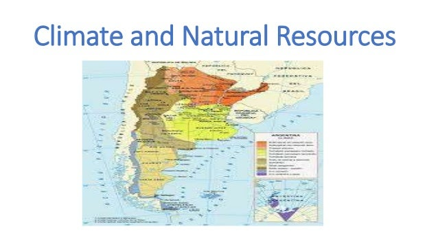 Argentina At A Glance - Argentina map natural resources