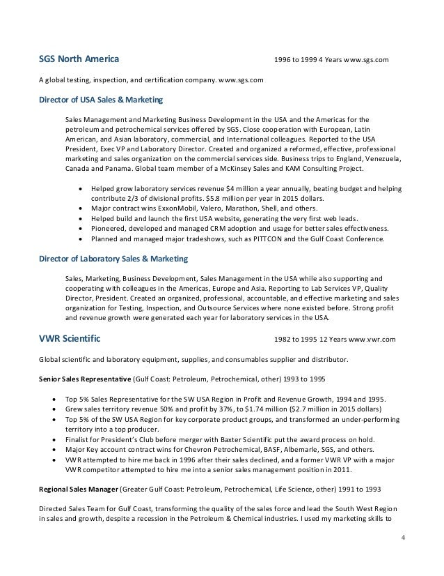 cv for sales and marketing