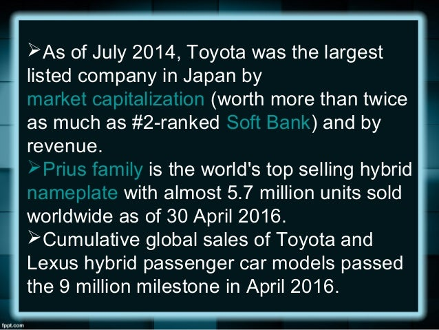 segmentation toyota An adjacent segmentation strategy allows the company to consistently grow its  market toyota initially targeted subcompact cars as these vehicles are small and .