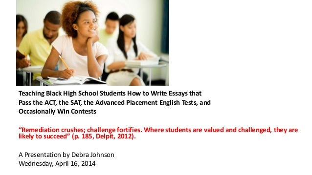 teaching black students how to write essays