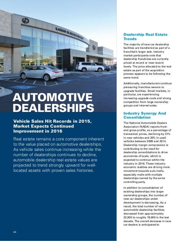 Real Estate Values For Car Dealerships