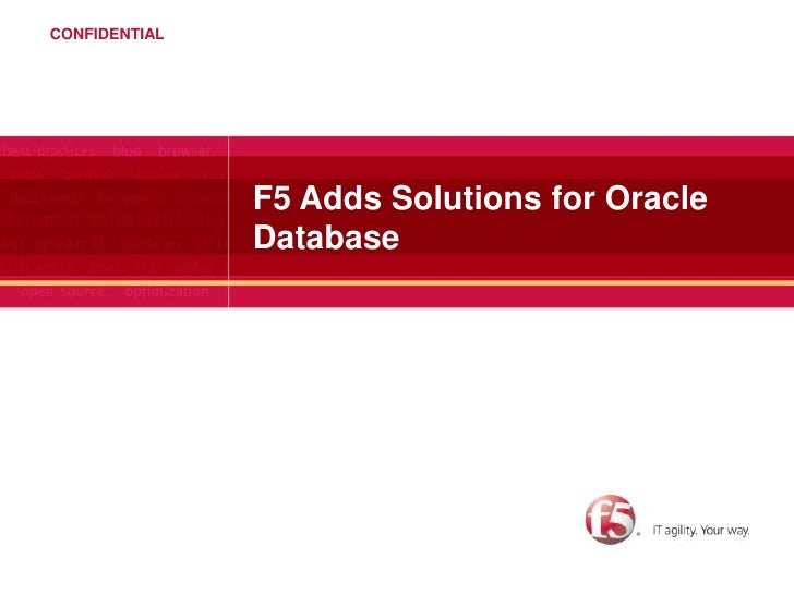 F5 Adds Solutions for Oracle Database<br />