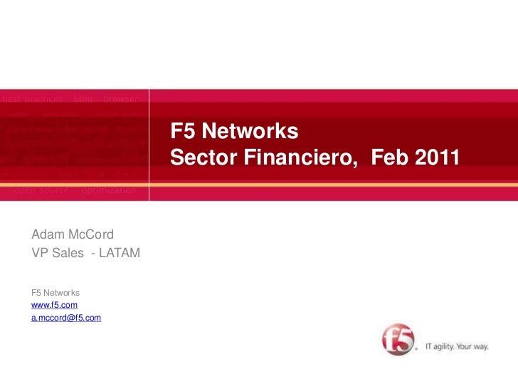 F5 Networks - Soluciones para Banca & Finanzas
