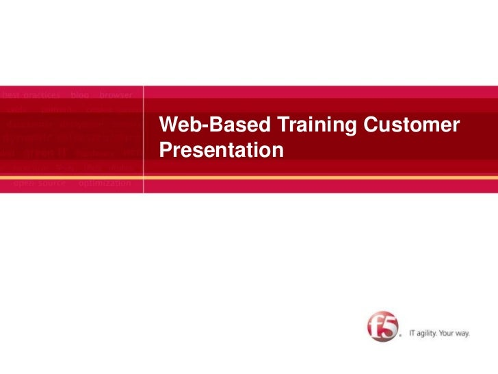 Web-Based Training Customer Presentation<br />