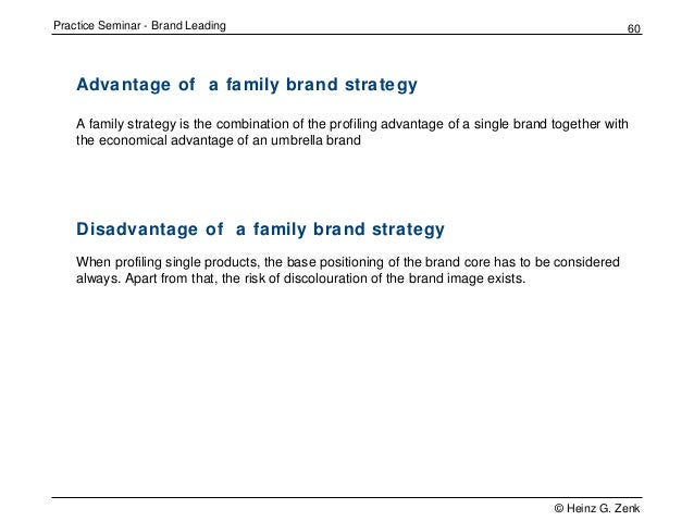 family branding advantages and disadvantages