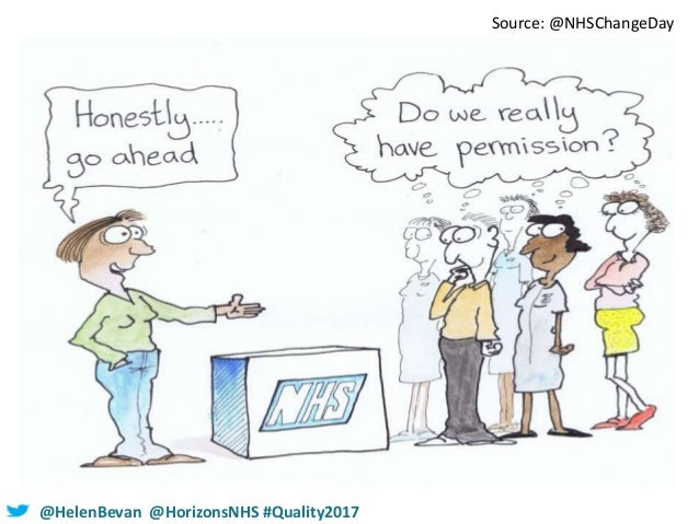 @HelenBevan @HorizonsNHS #Quality2017 Source: @NHSChangeDay