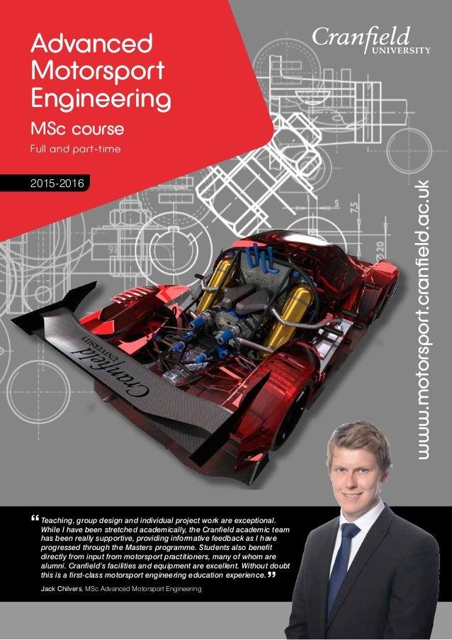cranfield motorsport thesis