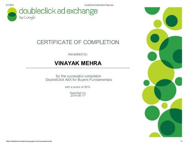 DoubleClick Certification Programs