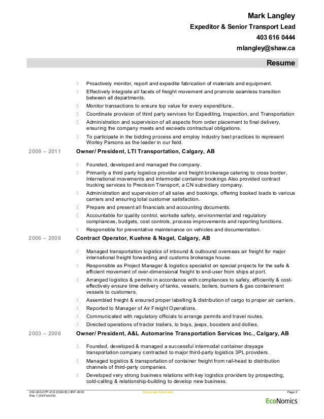 mark langley worleyparsons expeditingfeb 09 2015 resume
