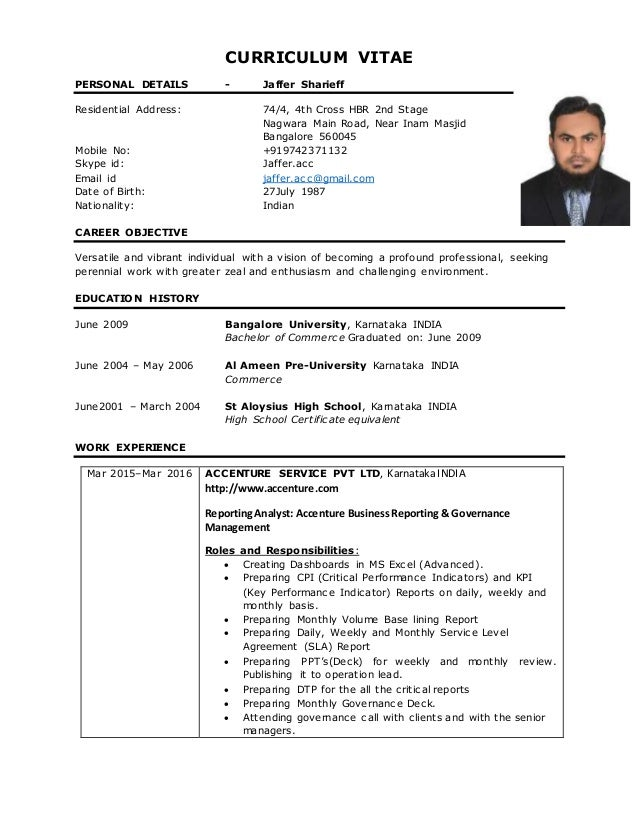 jaffer sharieff resume