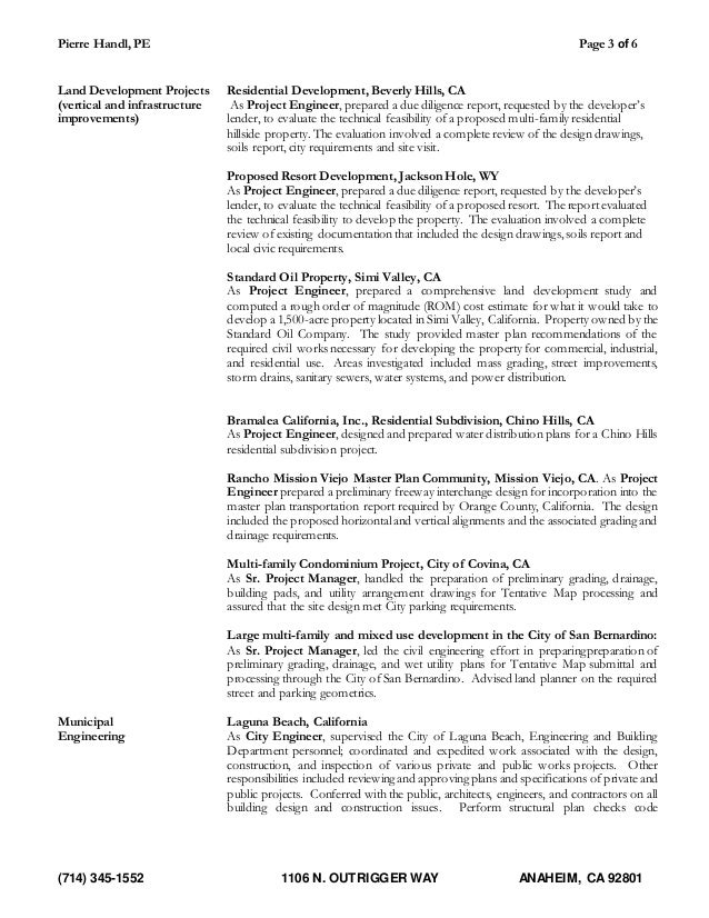 Project manager san nas resume california