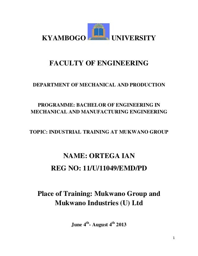 report on industrail training Industrial training report noraniza binti ahmad daud  bachelor of science (hons) major in chemistry  faculty of science  university of putra malaysia.