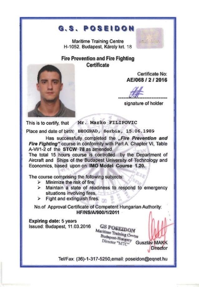 Stcw Certificates