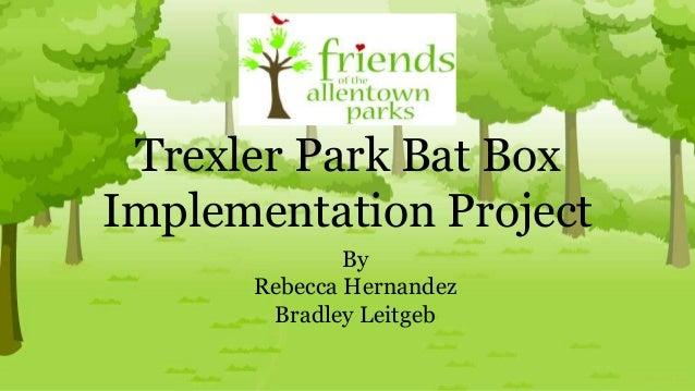Trexler Park Bat Box Implementation Project By Rebecca Hernandez Bradley Leitgeb