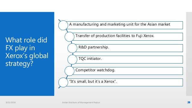 What role has fuji xerox played in xerox s global strategy