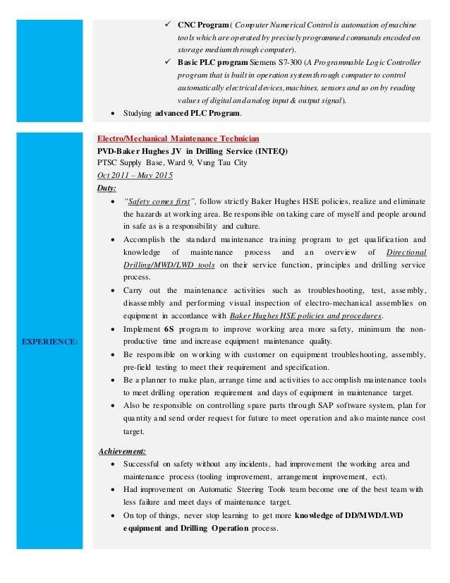 2 - Mwd Field Engineer Sample Resume