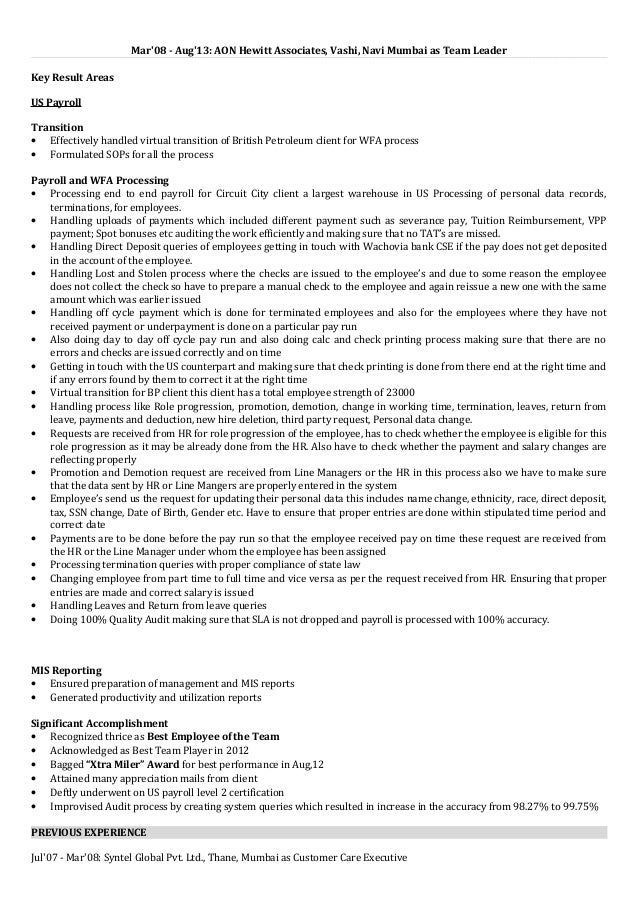payroll accountant resume - Payroll Accountant Resume