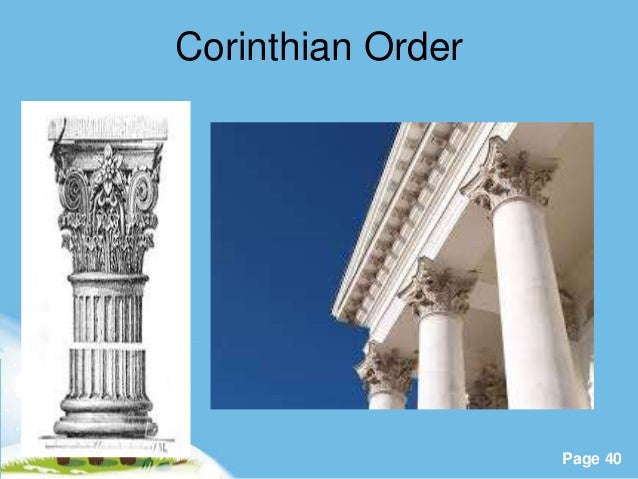 Visual art sculpture and architecture powerpoint templates page 40 corinthian order toneelgroepblik Gallery