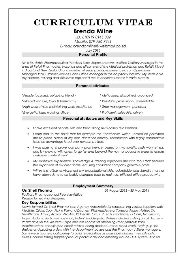 Cv Resume Sales Representative Or Sale And Otc Or Fmcg Fmcg Resume