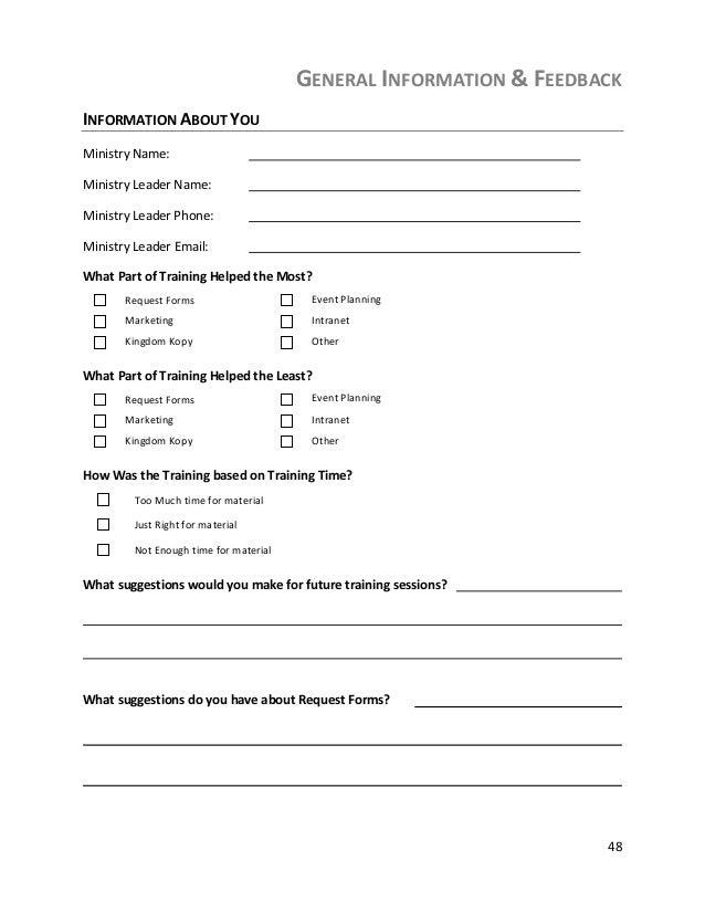 Communcation Manual – Event Feedback Form