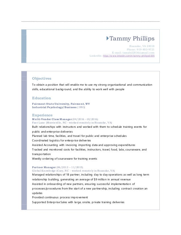 tammy phillips resume 10 31 16