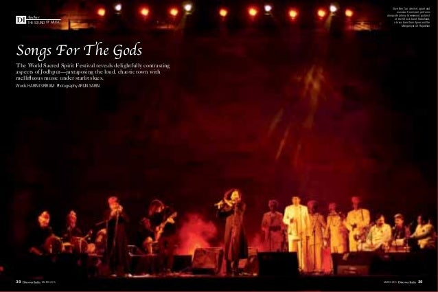 the sound of music Anchor Songs For The Gods The World Sacred Spirit Festival reveals delightfully contrasting aspects of ...