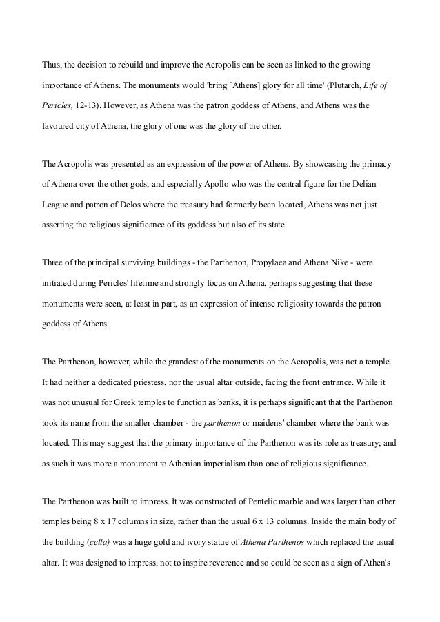 acropolis essay  4 thus the