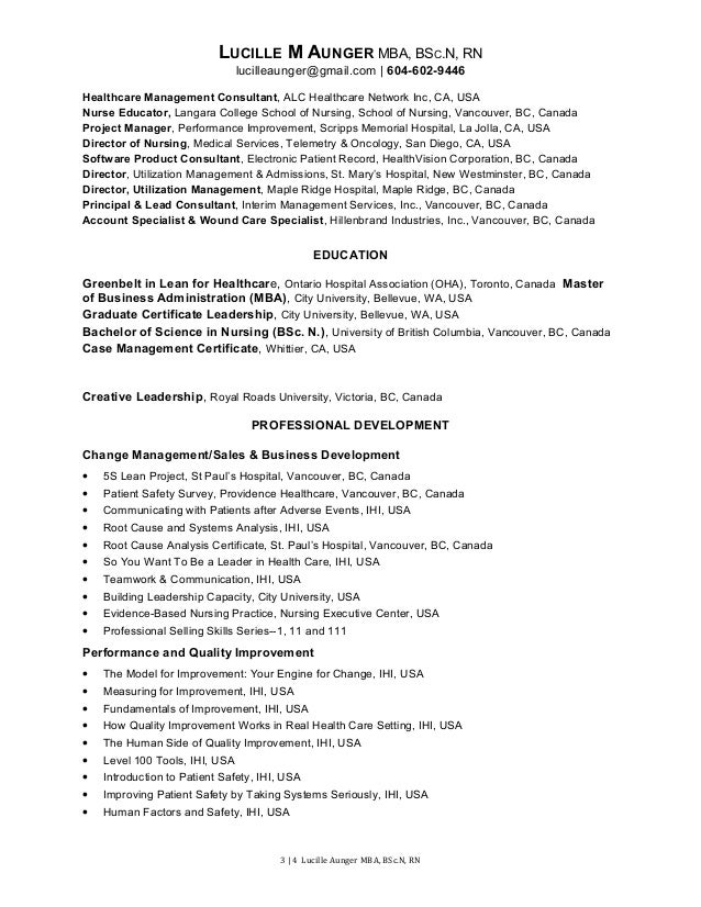 lucille m aunger resume management 2 2016