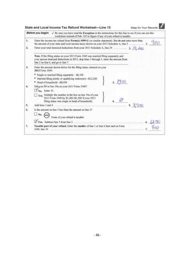 Portfolio M Jones – State Tax Refund Worksheet