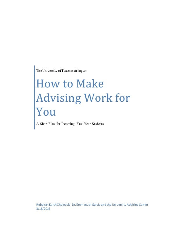 How to Make Advising Work for You