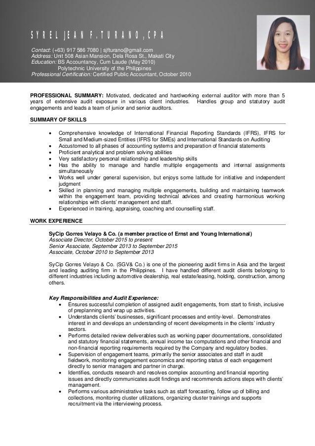 Resume of Syrel Jean Turano