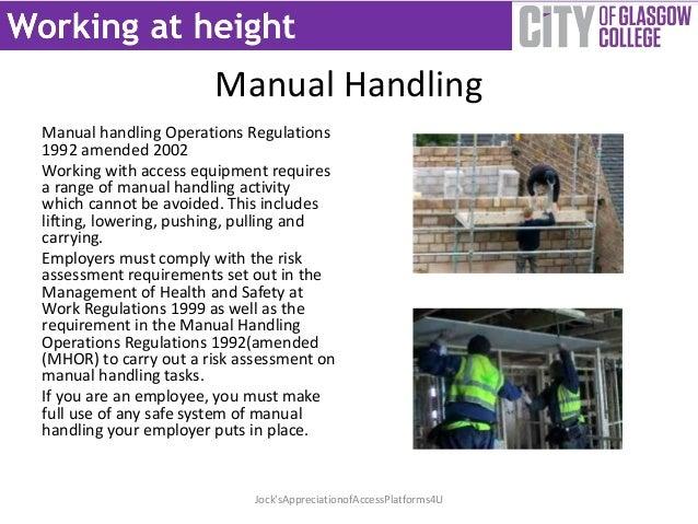 manual handling operations regulations 1992 amended 2002