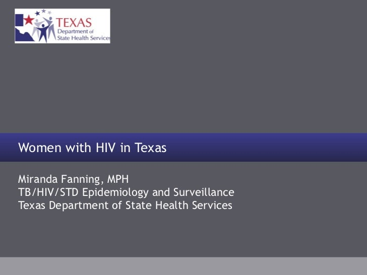 Miranda Fanning, MPH TB/HIV/STD Epidemiology and Surveillance Texas Department of State Health Services Women with HIV in ...