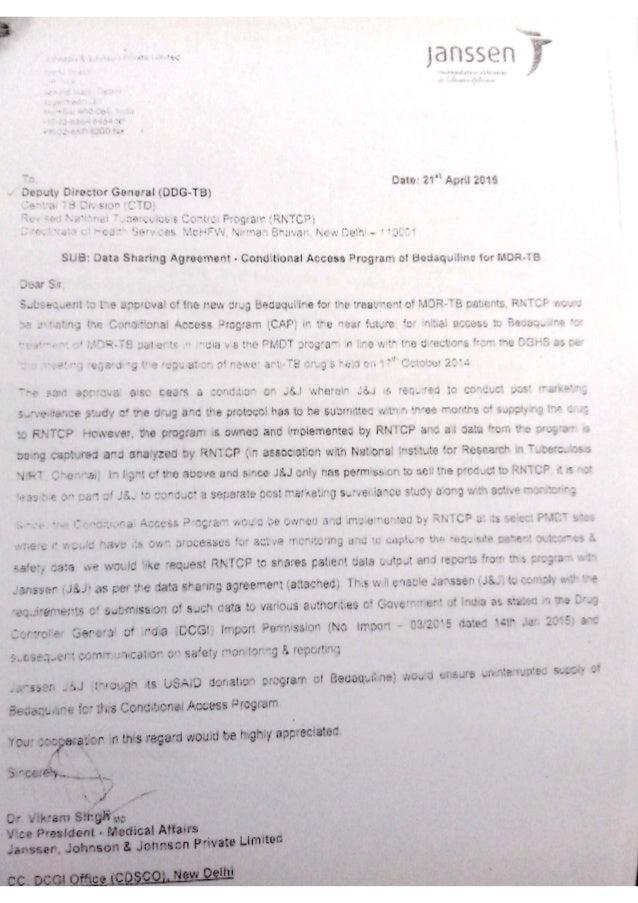 Janssen letter to DGHS on data sharing