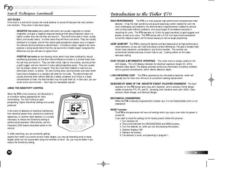 F70 Manual Reader