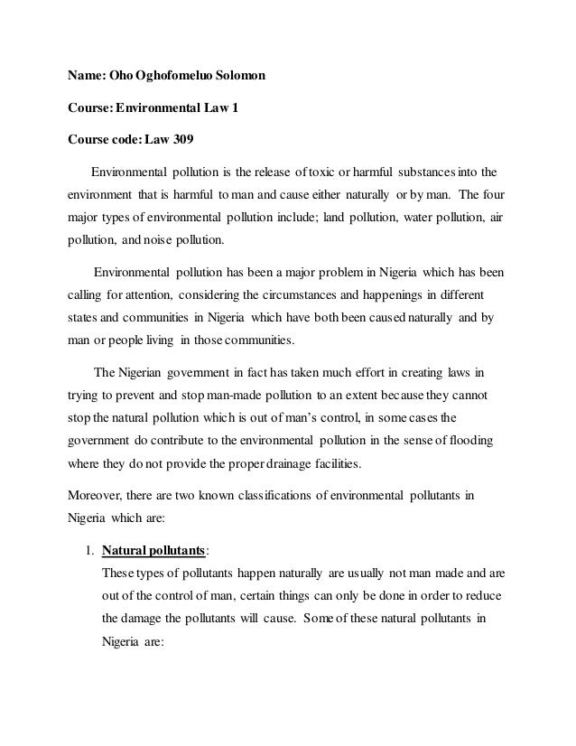 environment assignment