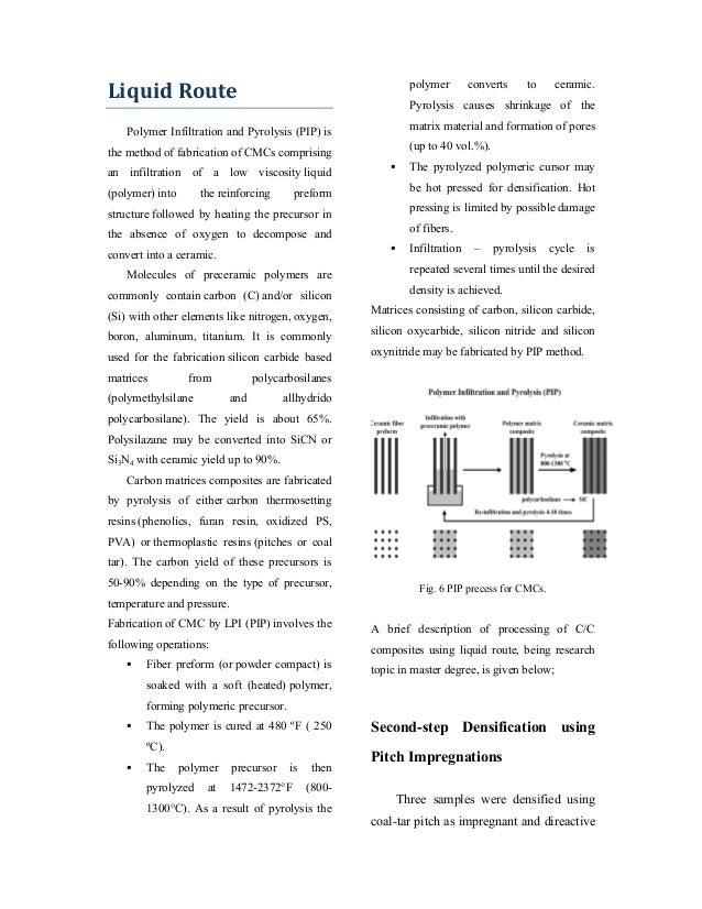 Gas And Liquid Routes For Ceramic Matrix Composites