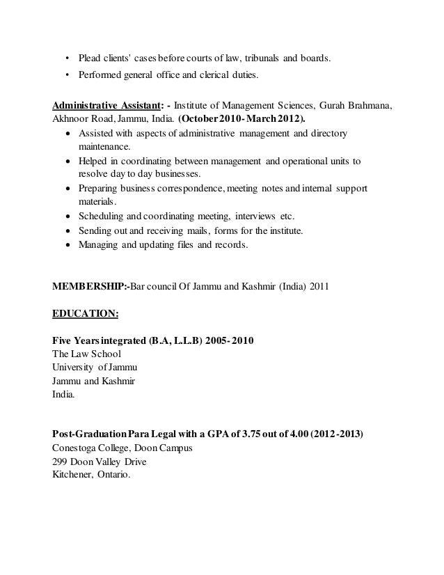 Nitesh Slathia Legal Resume