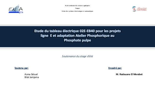 Soutenu par: Asma Sdoud Bilal Jamjama Ecole nationale des sciences appliquées Tanger Génie des systèmes électroniques et a...